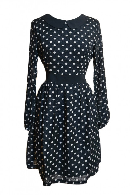 Vintage Vibes Polka Dot Long Sleeve Dress