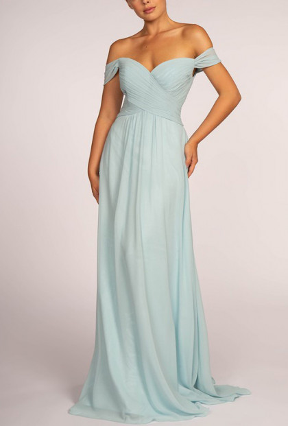 Jasmine Off-Shoulder Formal Chiffon Dress