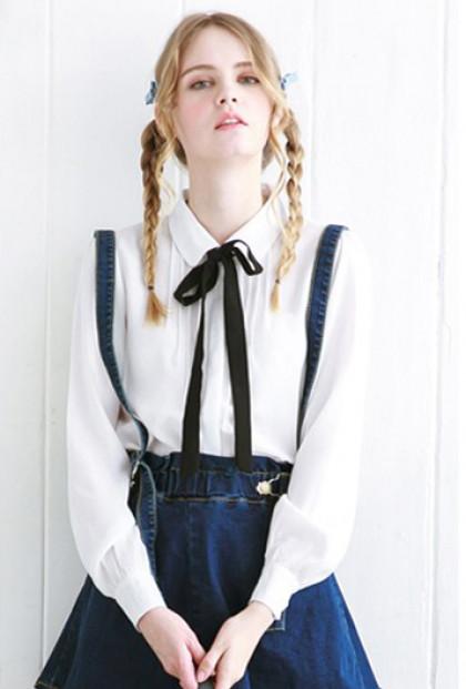 white peter pan collar blouse