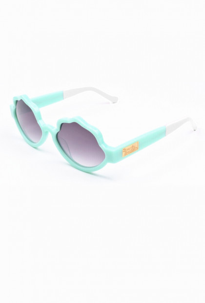 See Shells Seashell Frame Sunglasses in Mint