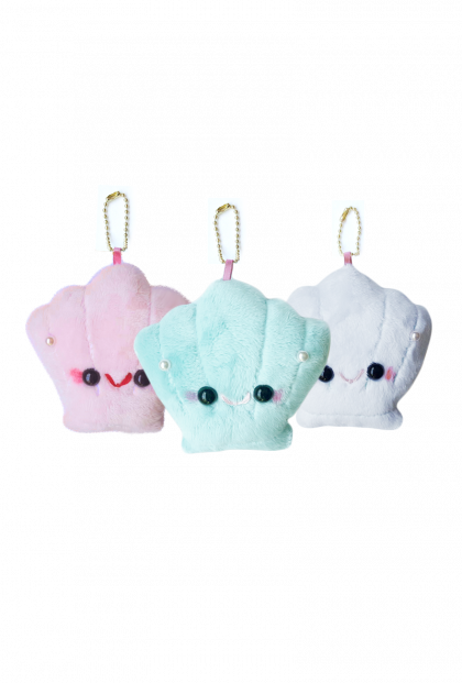 Kawaii Shell Plush Keychain