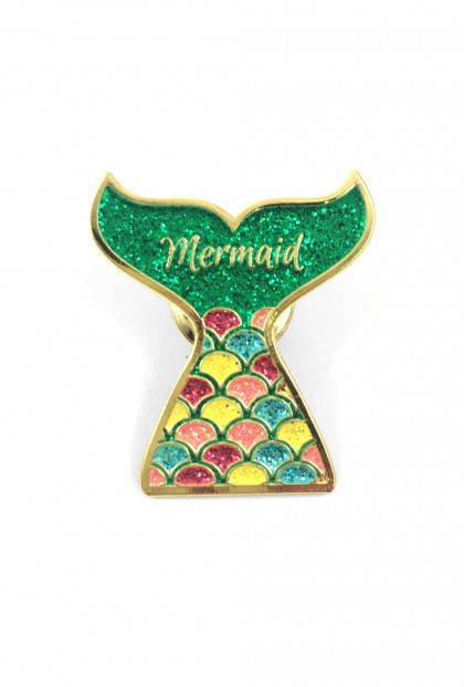 mermaid lapel pin