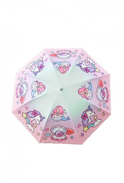 Kawaii Mermaid Unicorn Sunbrella