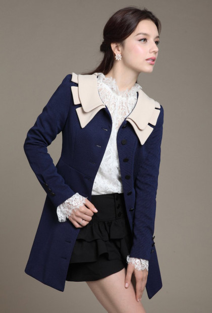 Vintage Lapel Collar Swing Coat