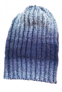 Ribbed Knit Beanie in Navy