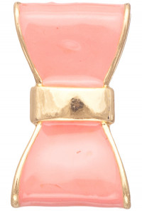 Pink Rings - Cute Daily Lacquered Bow Ring