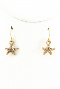 Earrings - Oceans Apart Starfish and Reef Necklace Earring Set in Turquoise