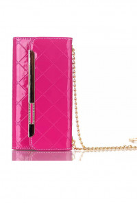 Boss Lady Lattice Crossbody iPhone 6 Plus Fuchsia Wallet Wristlet