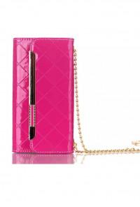 Boss Lady Lattice Crossbody iPhone 6 Plus Fuchsia Wallet Wristlet