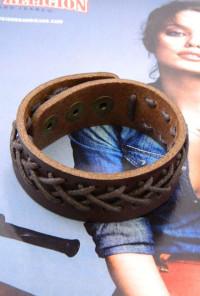 Bracelet - Romantic Nomad Braided Leather Cuff Bracelet in Brown
