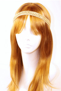 Head Piece - Bohemian Enchantment Metallic Chain Stitch Headband