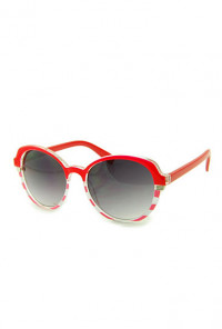 Sunglasses - Day at Sea Nautical Striped Red Sunglasses