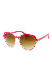 Sunglasses - Day at Sea Nautical Striped Magenta Sunglasses