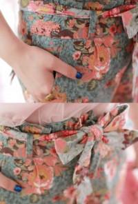 Garden Paperbag Waist Floral Print Shorts