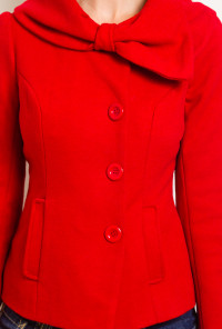 Accidentally-in-Love-Bow-Collared-Coat-Passionate-Red