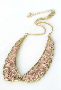 Filigree Vintage Collar Necklace in Pink