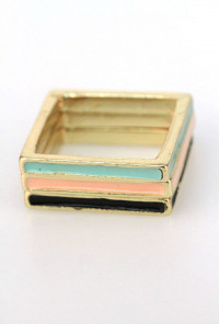 Band Together Lacquered Squared Ring Stack