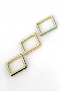 Rings - Band Together Lacquered Squared Ring Stack
