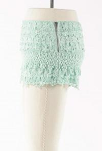 mint Floral Lace Shorts