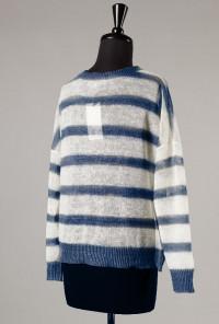 Lightweight Navy Stripe Knit Sweater