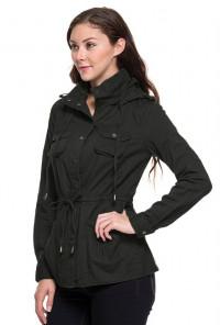 black military utility jacket