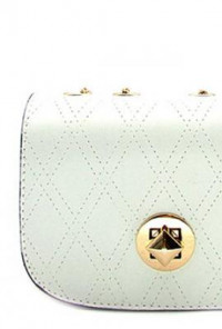 White Chain Strap Purse