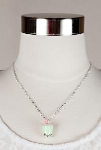 Bubble Bubble Boba Tea Charm Necklace in Honeydew Milk Tea