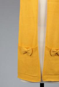 Pockets Bows Honey Mustard Scarf