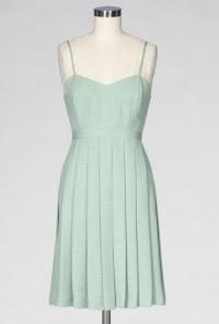 mint pleated sweetheart dress