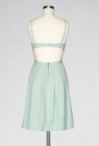 mint Pleated Cami Dress