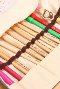 Canvas-Makeup-Makeup Brush Roll-Up Case/Organizer