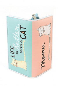 Pink Mint Cat Wallet