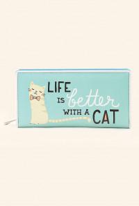 Pink Mint Cat Wallet