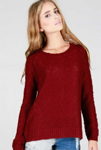 burgundy Knit Sweater