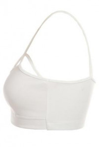 Complex-Simplicity-Criss-Cross-Padded-Bralette-White