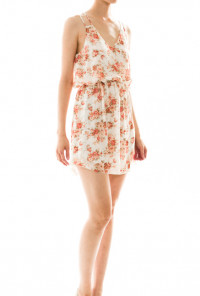 Floral Print Dress in Ivory