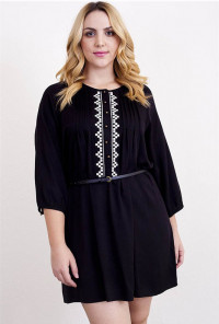 cute embroidered Peasant Dress