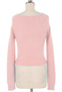 Fuzzy Crop cute pink Sweater