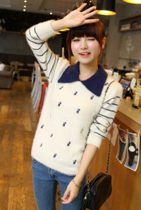 Cute Sweaters -Kitten Sweater in White