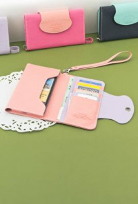 Wristlet - Forces of Nature Cell Phone Pink Lavender Wristlet