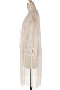 Tassel Lace Cardigan in Ivory