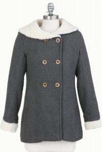 Earl Gray Sherpa Lined Coat