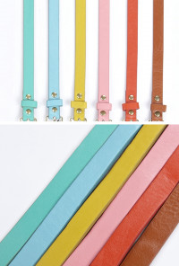 candy color Skinny Belts