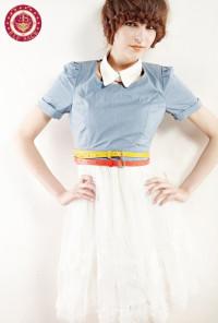 Eye Candy Skinny Belts by Elf Sack - Teal Belt