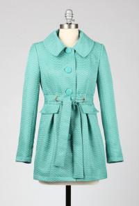 cute Aqua Coat