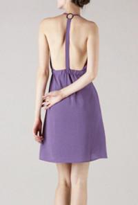 Double Strap V Neck Tulip Dress in Mauve