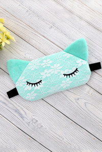 cat sleeping eye mask mint