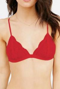 Feminine-Grace-Lace-Triangle-Bralette-Red