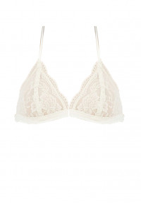 Feminine Grace Lace Triangle Bralette in White