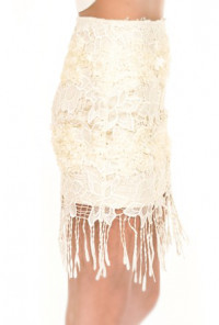 Flapper Soiree Fringe Lace Skirt